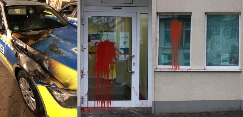 Angriffe-auf-Streifenwagen-und-Polizeiwache